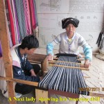 Weaving demonstration by a Naxi lady