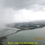 Heavy rain over Kunming City