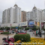 More shopping malls across Jinbi Road