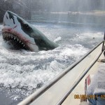 """Jaws"", a large white shark suddenly appears"