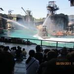 "Death-defying stunts in ""Waterworld"" show"