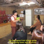 Village guide introducing Jeju natural products