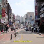 Main shopping street of Fashion Street in Sinchon