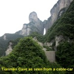 Tianmen Cave as seen from a cable-car