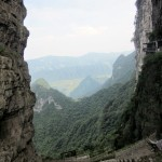 The scenery behind Tianmen Cave