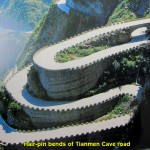 The hair-pin bends of Tianmen Cave Road