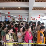 Long queue at a Tianmen cable-car station