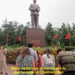 Visitors paying homage to Chairman Mao