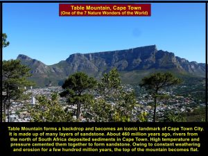 Formation of Table Mountain, Cape Town