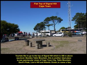 Signal Hill(350 m high) is another good place to see the city of Cape Town and landscapes.