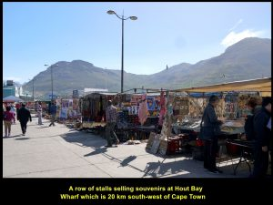 Souvenir stalls at Hout Bay Wharf