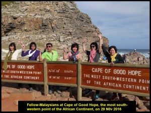 Fellow-Malaysians at Cape of Good Hope