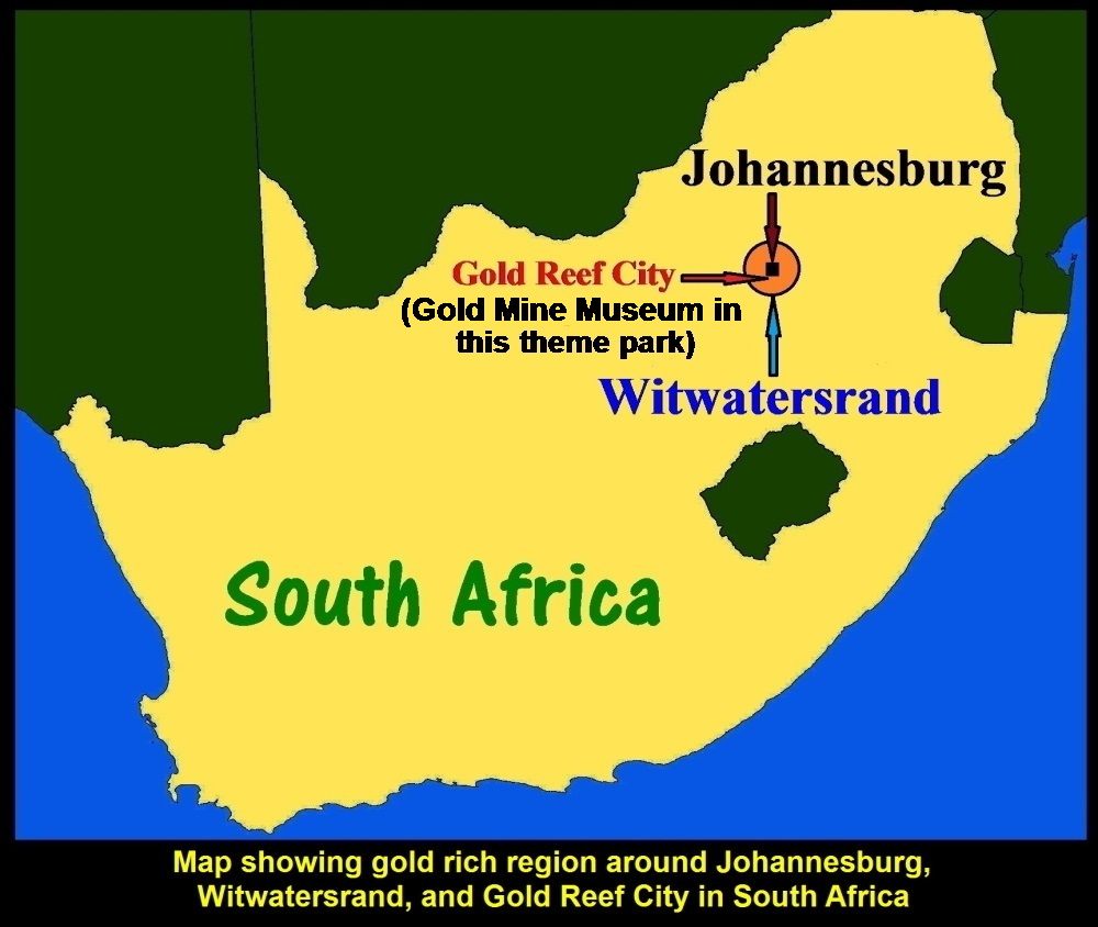 Gold In South Africa Map.South Africa Travel Final Part Gold Reef City Gold Mine