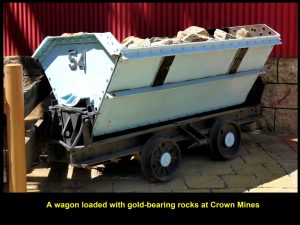 A wagon full of gold-bearing rocks