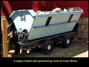 A wagon full of gold-bearing rocks