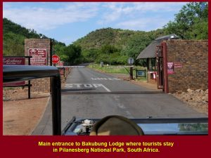 Main gate of Bakubung Lodge, Pilanesberg National Park