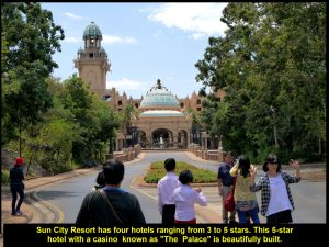 The Palace, a 5-star hotel with casino, in Sun City Resort, near Pilanesberg Natural Park, South Africa