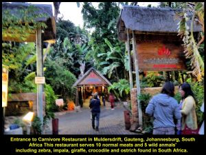 Carnivore Restaurant located in Muldersdraft, Gauteng, Johannesburg