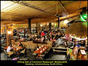 Dining Hall of Carnivore Restaurant, Muldersdrift, Gauteng, Johannesburg, South Africa
