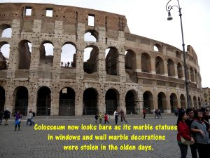 A Bare Colosseum without Statues and Stucco Decorations