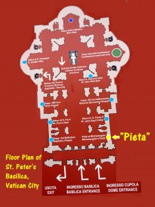 Floor Plan of St. Peter's Basilica, Vatican City