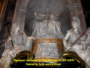 Monument dedicated to Pope XI(1611-1689) in St. Peter's Basilica