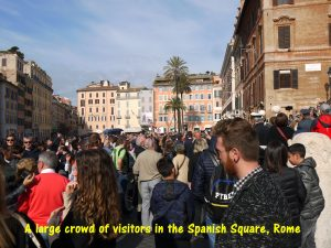 Crowded Spanish Square