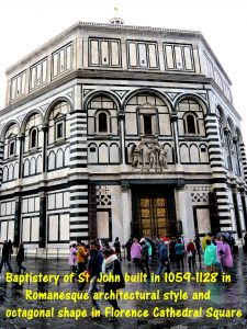 Baptistery of St. John in Florence Cathedral Square
