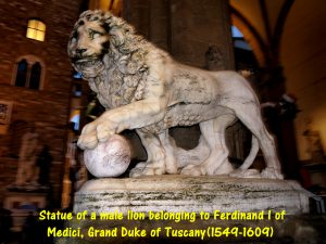 Statue of a Male Lion belonging to Ferdino I of Medici(1549-1609)