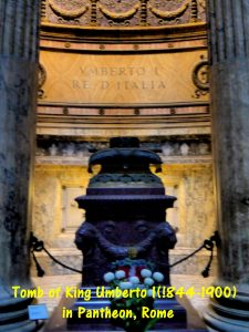 Tomb of King Umberto I(1844-1900) in Pantheon, Rome