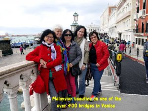 Malaysian beauties on a Venetian bridge