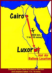 Tour group flying from Cairo to Luxor