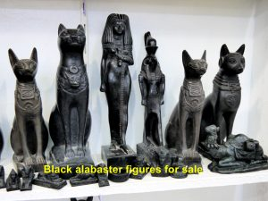 Black alabaster figures for sale