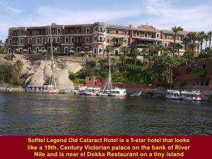 Sofitel Legend Old Cataract Hotel. a 5-star hotel on the bank of River Nile in Aswan