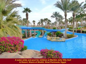 Water-slide for children at Maritim Jolie Ville Golf & Resort, Sharm el Sheikh