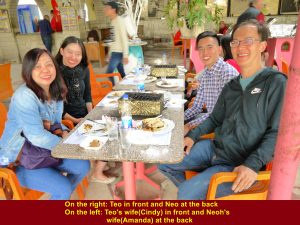 Teo and wife, and Neoh and wife at Alezba Village Restaurant, Cairo