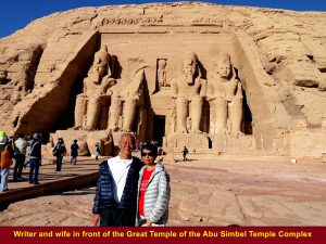Writer and wife at Abu Simbel Temples