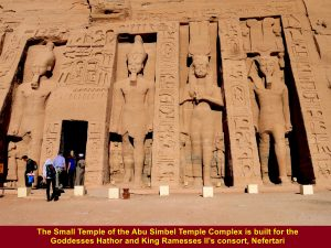The Small Temple was built for Goddess Hathor and King Ramesses II's consort, Nefertari.