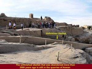 The unfinished obelisk that was abandoned over 3000 years ago