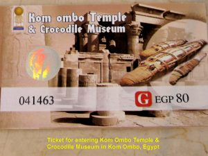 Ticket to visit Kom Ombo Temple