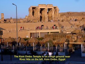 Kom Ombo Temple on a low hill near River Nile