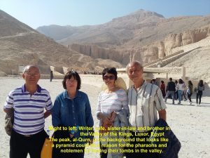 Writer and family in the Valley of the Kings, Luxor, Egypt