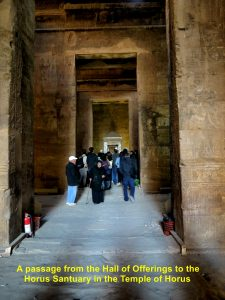 Passage from Hall of Offerings to Horus Sanctuary, Temple of Horus, Edfu