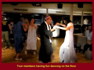 Tour members enjoying dancing