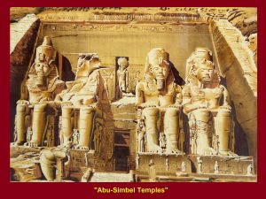 "Painting of ""Abu-Simbel Temples"""