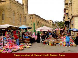 Street vendors at Khan el Khalil Bazaar, Cairo