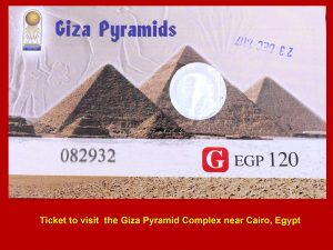 Ticket to visit Giza Pyramid Complex in Egypt