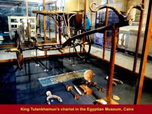 King Tutankhamun's chariot in the Egyptian Museum, Cairo