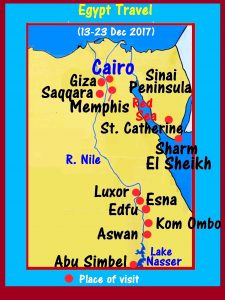 Touring places in Egypt from 13-23 Dec 2017